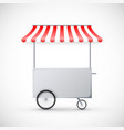 cart with awning mobile street food delivery shop vector image