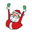 cartoon santa claus cheerful for your christmas vector image vector image