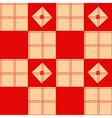 Chessboard Beige Red Background vector image vector image