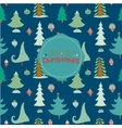 Christmas and New Year greeting pattern vector image vector image
