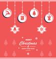 christmas decoration depen vector image