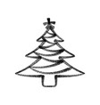 christmas tree painted with spray paint black vector image vector image