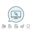 computer or monitor icon mouse cursor sign vector image