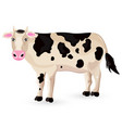 cow isolated on white cartoon character vector image vector image