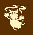 cute cow character with bowls of food vector image