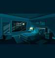 cute young woman sleeping bedroom at night vector image