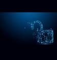 cyber unlock security concept lock symbol vector image vector image