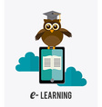 e- learning design vector image vector image