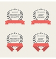 elements with red ribbons vector image vector image