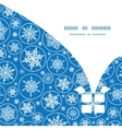 falling snowflakes Christmas gift box silhouette vector image vector image