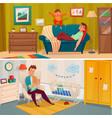 fatherhood banner set vector image
