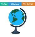 Flat design icon of Globe vector image vector image