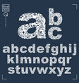 floral font hand-drawn lowercase alphabet letters vector image vector image