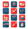 fourth july icons vector image vector image