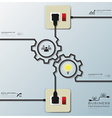 Gear Shape Electric Wire Line Business Infographic vector image