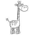 Giraffe drawing vector image vector image