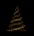 Gold christmas tree happy new year background