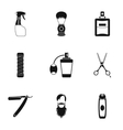 Hairstyle icons set simple style vector image vector image
