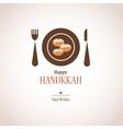 hanukkah dinner invitation traditional donuts on vector image vector image