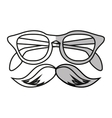 Isolated hipster glasses and mustache design vector image vector image
