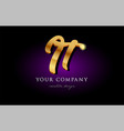 it i t 3d gold golden alphabet letter metal logo