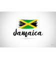 jamaica country flag concept with grunge design vector image