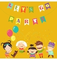 Kids celebrating Birthday vector image vector image