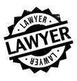 Lawyer rubber stamp vector image vector image