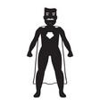 male superhero cartoon character silhouette vector image vector image