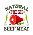 Meat shop sign Fresh beef vector image vector image