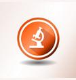 microscope icon in flat design vector image