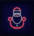 neon santa claus vector image vector image