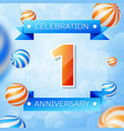 one years anniversary celebration design vector image