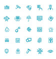 outline web icon set - security and technology vector image