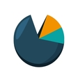pie infographic statistics isolated icon vector image