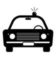 police cop car vintage with siren front view vector image vector image