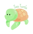 sea turtle isolated marine animals sticker vector image vector image