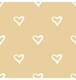 Seamless pattern with hand drawn heart vector image vector image