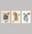 set abstract modern shapes