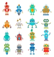 set of robots vector image