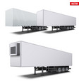 set semi trailers vector image vector image