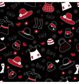 shopping seamless vector image