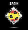 soccer ball in the color of spain vector image vector image