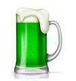 st patricks day background with glass beer vector image