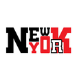 T shirt New York city red vector image vector image