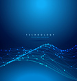 technology digital mesh wave vector image