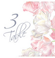 tulip number card pink vector image vector image