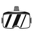 vr glasses headset icon simple style vector image