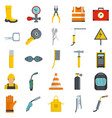 welder equipment icons set isolated vector image