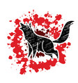 wolf howling graphic vector image vector image